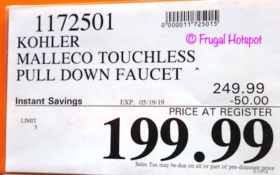 Kohler Malleco Touchless Pull Down Faucet Costco Sale Price