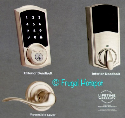 Costco Kwikset Smartcode 915 Touchscreen Electronic Deadbolt With
