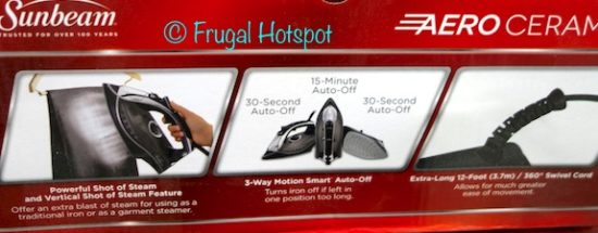 Sunbeam Aero Ceramic Digital Iron at Costco