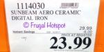 Costco price: Sunbeam Aero Ceramic Digital Iron