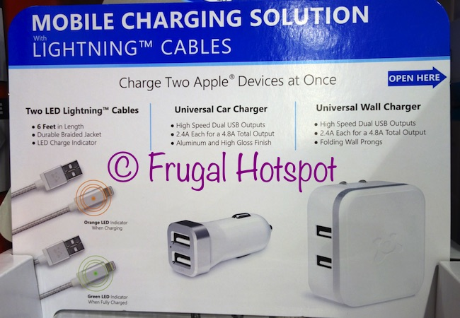 Costco Sale Ubio Labs Led Lightning Cable Charging Kit 23 99 Frugal