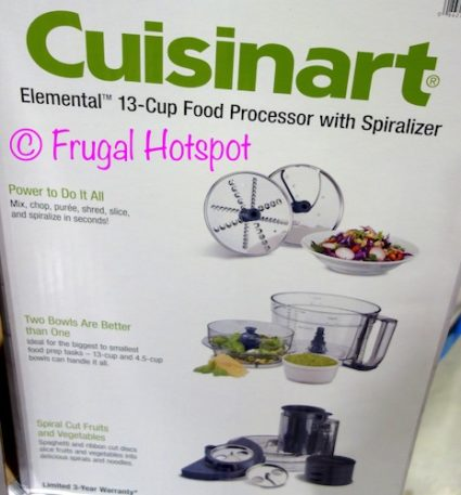 Cuisinart Elemental 13-Cup Food Processor with Spiralizer at Costco
