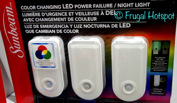 Costco Sale Sunbeam Color Changing Led Power Failure Night