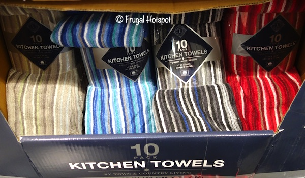 Town & Country Living Kitchen Towel 10-Pack Costco