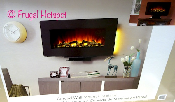Costco Sale Well Universal Ember Hearth 36 Quot Curved Wall Mount Electric Fireplace 79 99