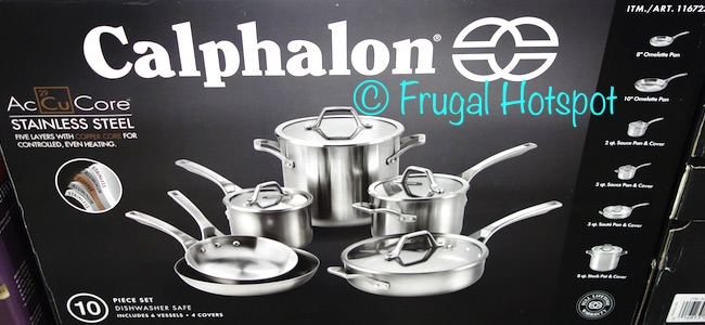 Costco Sale Calphalon Accucore 10 Pc Stainless Steel
