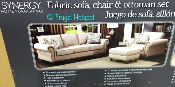 Costco Has The Synergy Home Fabric Sofa Chair Ottoman Set In S For A Very Limited Time It Priced At 899 99 Be Sure To Grab All 3 Bo