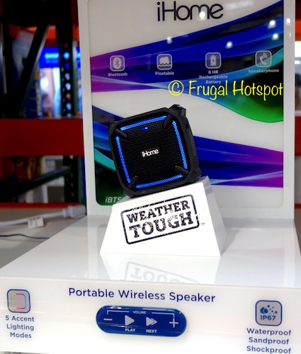 Costco Sale: iHome Portable Wireless Mini Speaker w/Lights $24.99