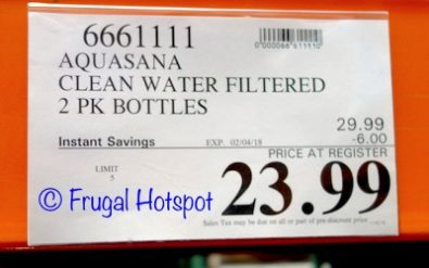 Costco Sale Price: Aquasana Active The Clean Water Filter Bottle 2-Pack