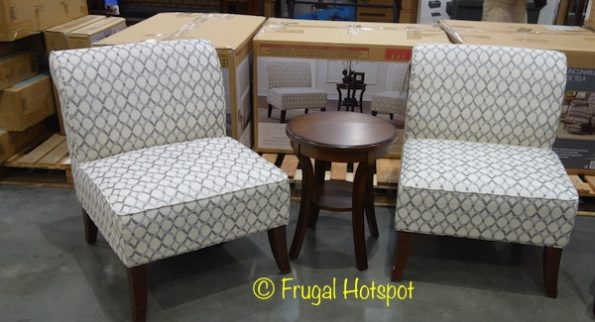 Avenue Six 3-Piece Fabric Chair + Table Set at Costco