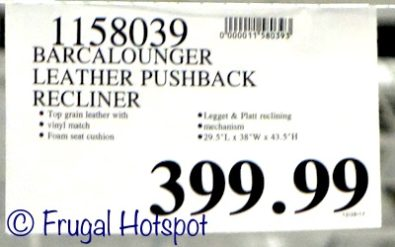 Costco Price: Barcalounger Red Leather Pushback Recliner