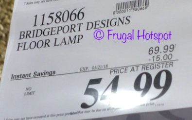 Costco Sale Price: Bridgeport Designs Crystal Floor Lamp