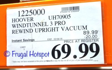 Costco Sale Price: Hoover Windtunnel 3 Pro Upright Vacuum