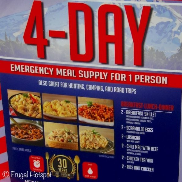 Mountain House 4-Day Emergency Meals at Costco