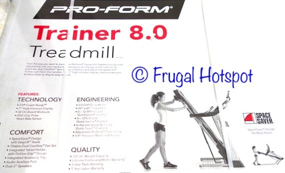 ProForm Trainer 8.0 Treadmill at Costco