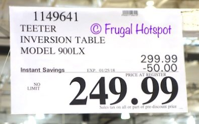 Costco Sale Price: Teeter Inversion Table Model 900LX