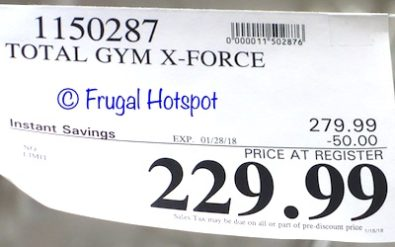 Costco Sale Price: Total Gym X Force