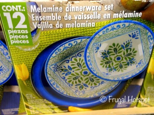 Global Tile Melamine Dinnerware 12-Piece Set at Costco