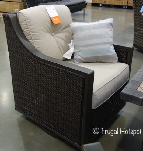 Chair from the Agio Cordova 5-Piece Fireplace Chat Set at Costco