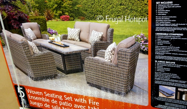 Costco: Agio Eastport 5-Pc Woven Seating Set with Fire Table ...
