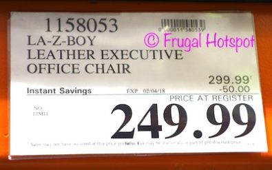 Costco Sale Price: La-Z-Boy Leather Executive Office Chair