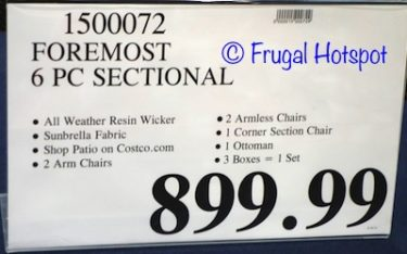 Costco Price: Foremost Melrose 6-Piece Woven Seating Set