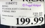 Costco Sale Price: Ring Floodlight Camera + Chime Pro