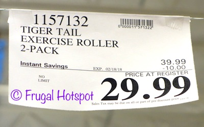 """Tiger Tail 18"""" Muscle Care Kit Whole Body Foam Roller 2-Pack Costco Sale Price"""