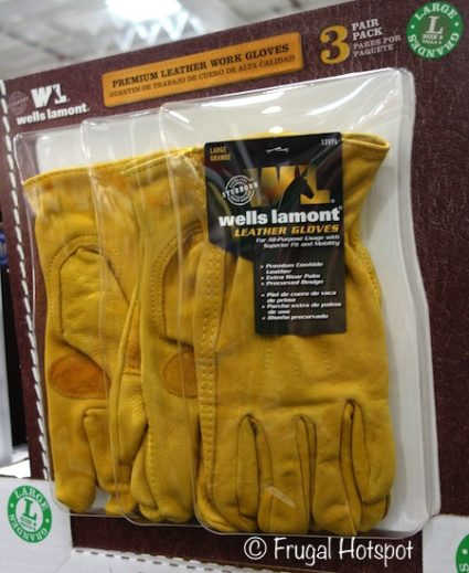 Wells Lamont 3-Pack Leather Work Gloves at Costco