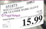 Costco Sale Price: Wells Lamont 3-Pack Leather Work Gloves