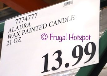 Costco price: Alaura Wax Painted Handmade Fragranced Artisan Candle