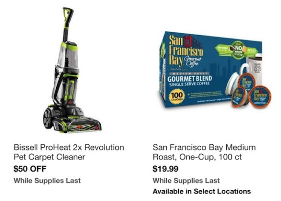 Costco In-Warehouse Hot Buys: Starts March 5, 2018: Bissell ProHeat 2X Revolution pet Carpet Cleaner, San Francisco Bay medium Roast, One-Cup 100 count