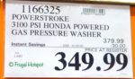 PowerStroke Honda Powered Gas Pressure Washer Costco Sale Price