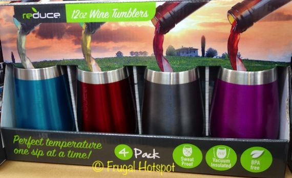 Reduce Stainless Steel Wine Tumblers 4-Piece Set at Costco
