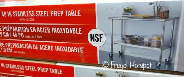 Trinity Stainless Steel Prep Table at Costco