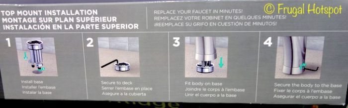 WaterRidge Seaton Pull-out Kitchen Faucet at Costco. Installation Instructions