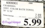 Costco Sale Price: Charisma Luxury Bath Towel