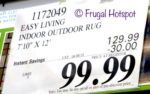 "Costco price: Easy Living Indoor Outdoor Rug 7'10"" x 12'"