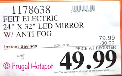 Feit Electric LED Lighted Mirror | Costco Price | Frugal Hotspot