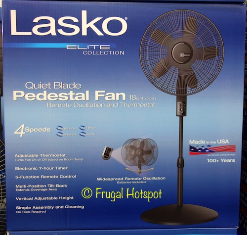 Lasko Quiet Blade Pedestal Fan at Costco