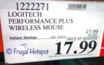 Costco Sale Price: Logitech Performance Plus Wireless Mouse