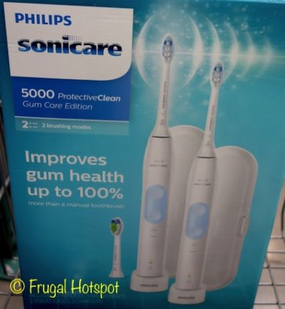 Sonicare 5000 ProtectiveClean Gum Care Edition 2-Pack Rechargeable Toothbrushes at Costco