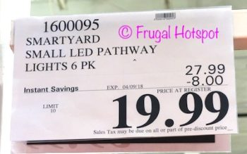 Costco Price: SmartYard Small LED Pathway Lights 6-Pack