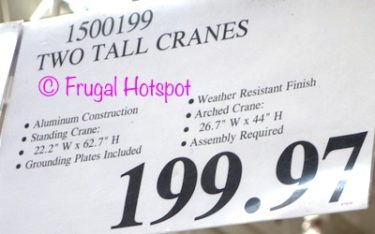 Costco Clearance Price: Two Tall Cranes garden statues