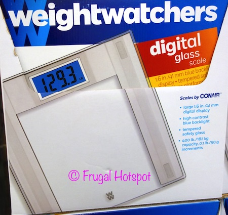 Weight Watchers Digital Glass Scale by Conair at Costco