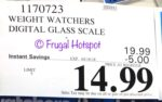 Costco Price: Weight Watchers Digital Glass Scale by Conair