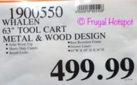 """Costco Price: Whalen Industrial 63"""" Metal and Wood Tool Cabinet"""