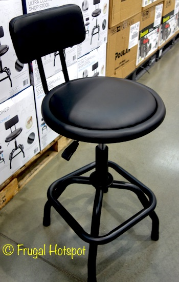 Winplus Ultra Cushioned Shop Stool with Deluxe Backrest at Costco