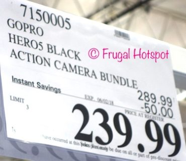 Costco Sale Price: GoPro HERO5 Black Action Camera Bundle