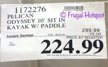 Costco Sale Price: Pelican Odyssey 100X 10' Sit-in Kayak with Paddle